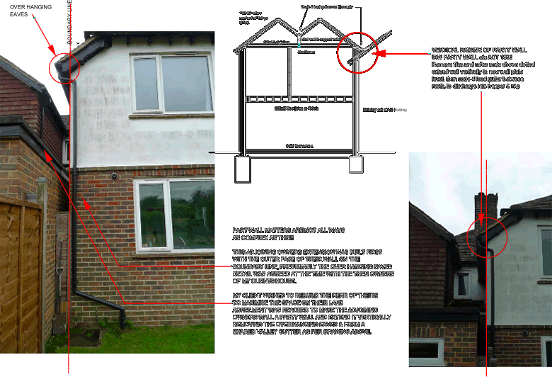 Keith chandler fbcabe mrics mfpws party walls for Party wall act 1996